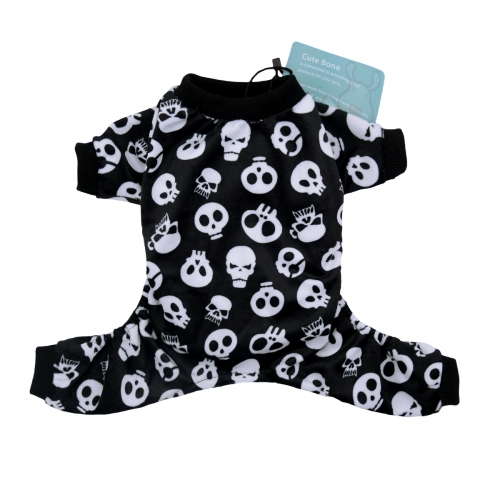 Black Skeleton Pajamas