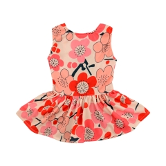 CuteBone Dog Dress Doggie Sundress Pet Clothes Dog's Sweet Dresses Puppy Skirt